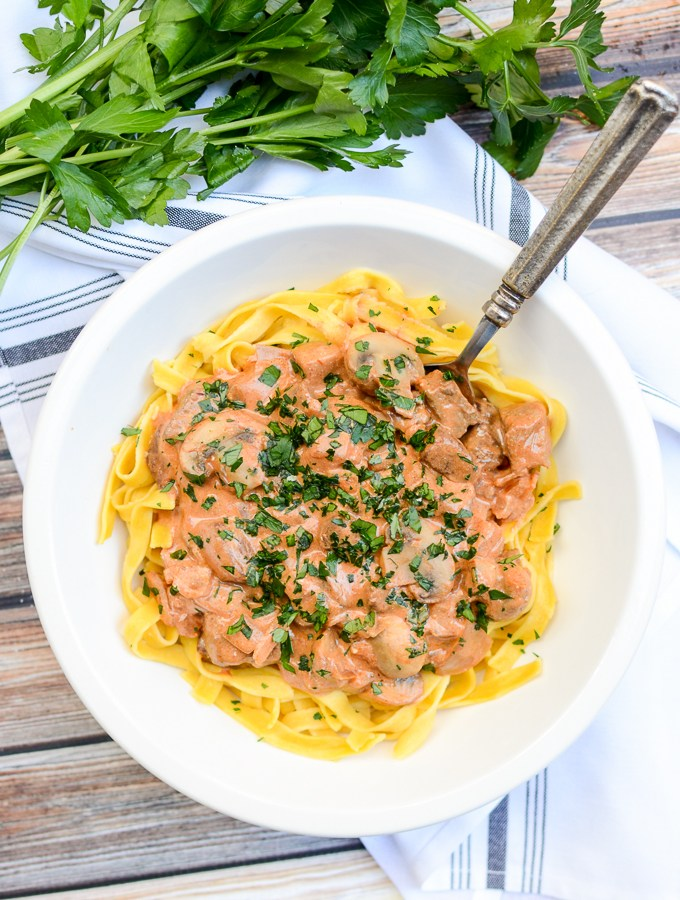 Better-For-You Beef Stroganoff | theeverykitchen.com