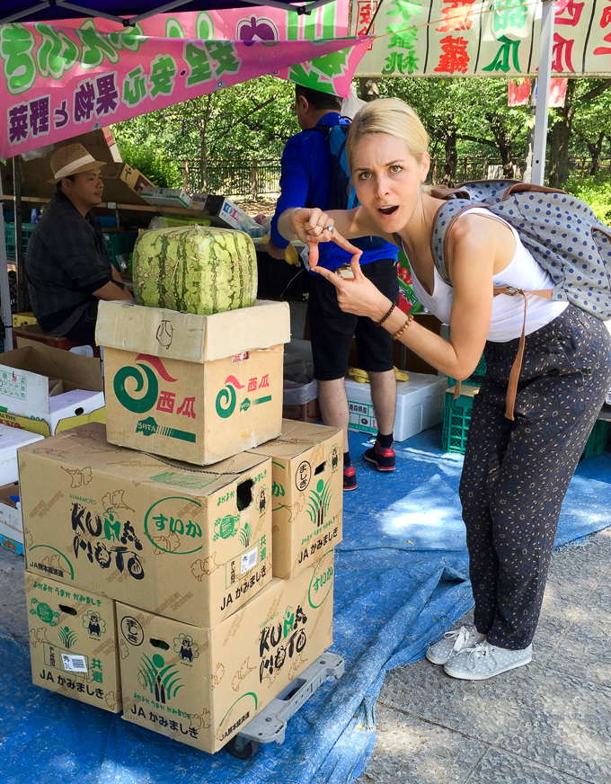 square watermelon in Japan | theeverykitchen.com