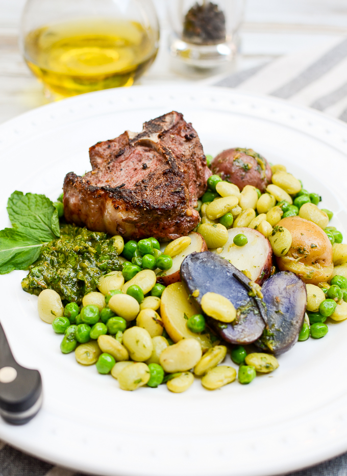 Arguably my best recipe, Skillet Lamb with Mango-Mint Chimichurri pairs deep and gamey flavors with bright, spring ingredients. Sugar free, gluten free. | theeverykitchen.com
