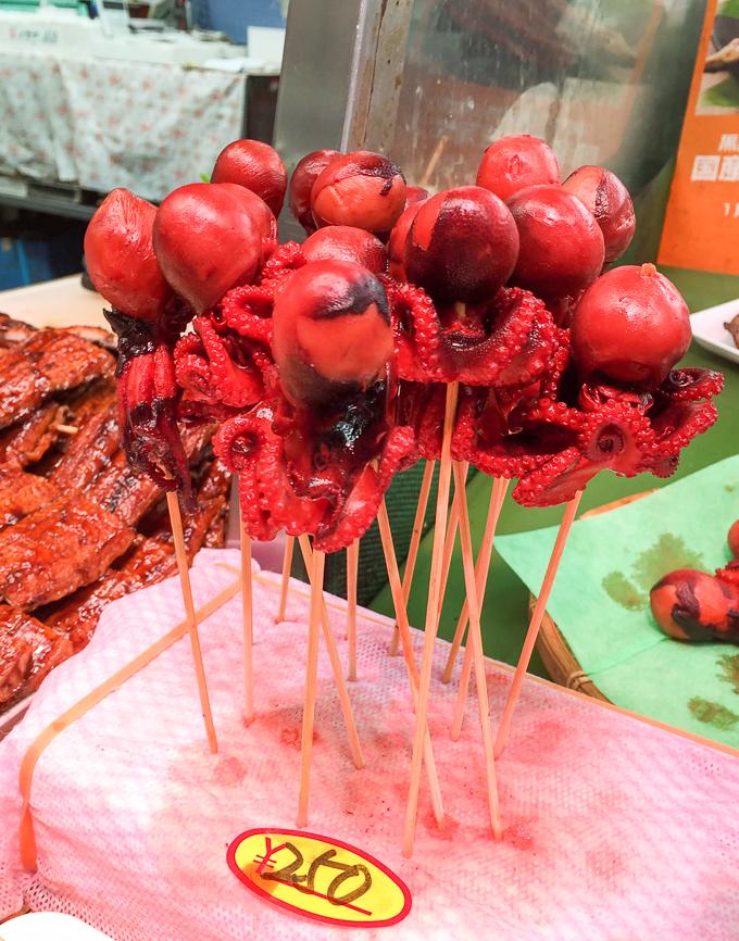 octopus skewers | theeverykitchen.com