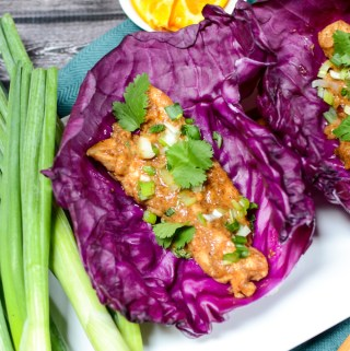 Orange Almond Chicken Lettuce Wraps