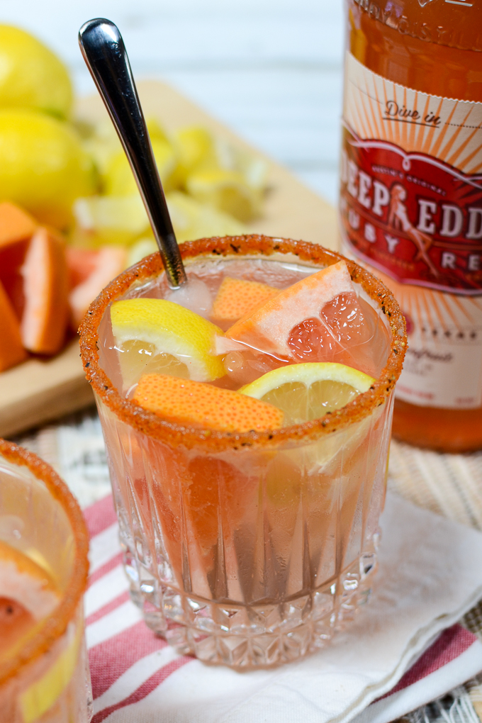 My Skinny and Seasoned Salty Dog is sweet and spicy, clocking in well under 100 calories. This citrusy recipe will you move into the dead heat of summer.   theeverykitchen.com