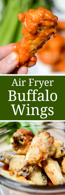 Saucy Air Fryer Buffalo Wings are lip-licking-good. Crispy skin with tender and juicy meat, you'll never believe these weren't cooked in a deep fryer! | theeverykitchen.com