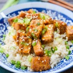 Meet Katie, Flexitarian + Crispy Baked Orange Tofu