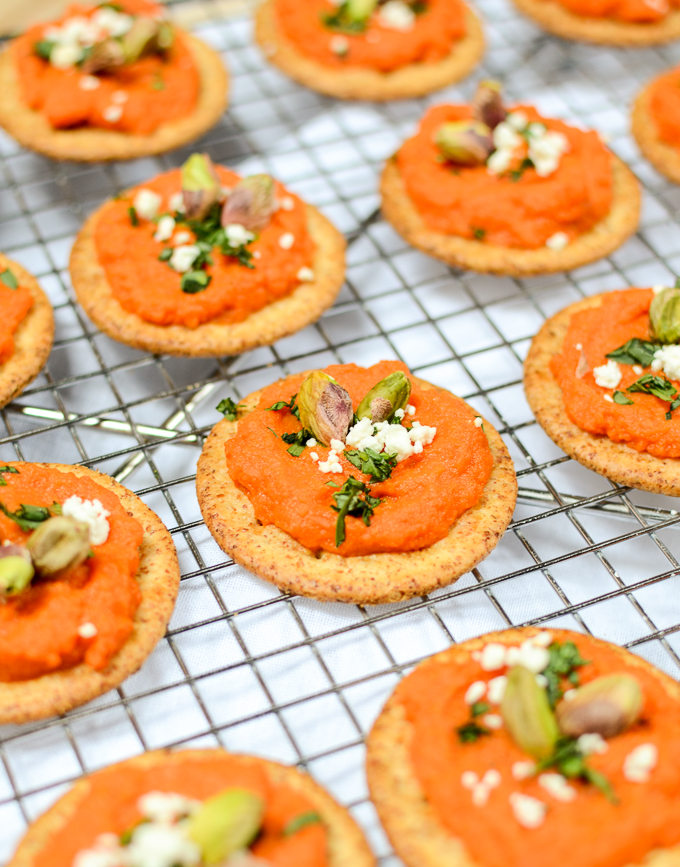 Roasted Carrot Spread with Toasted Pistachios and Tarragon showcases the flavor and beauty of simple, fresh, and minimal ingredients.| theeverykitchen.com