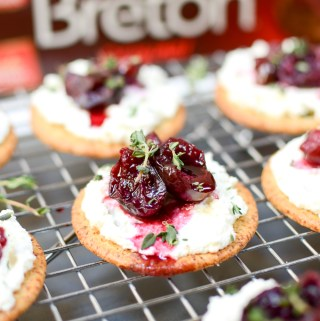 Roasted Cherry, Whipped Goat Cheese, and Thyme Hors d'Oeuvres