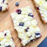 Lemon Blueberry Shortbread Bars