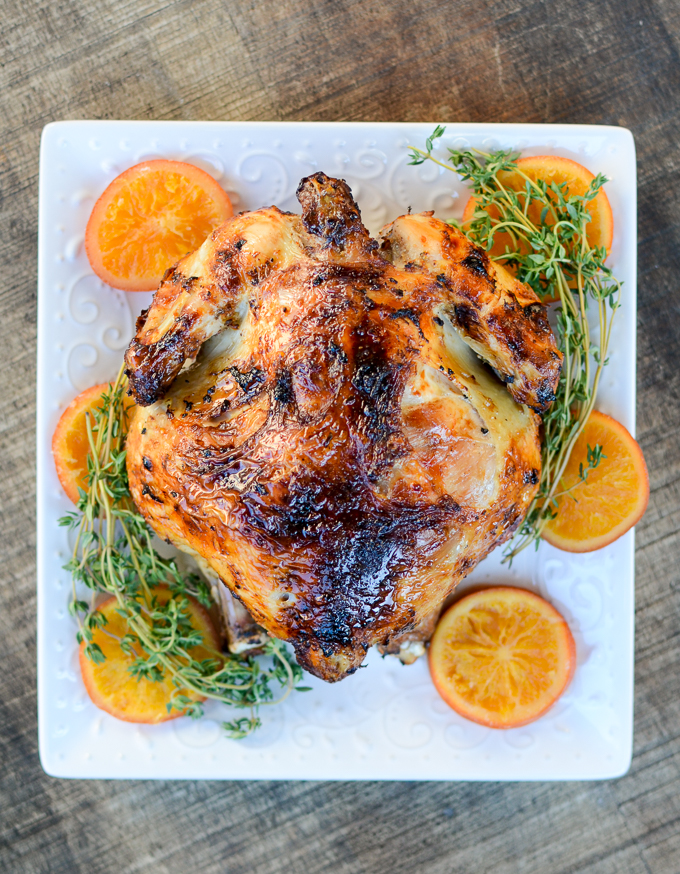Brine and Marinade. That's the secret for crispy-skinned, tender and juicy Air Fryer Chicken. My recipe is warm, savory, and deeply sweet with its rosemary and clove marinade. Perfect for those cold winter days. | theeverykitchen.com
