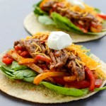 Healthy Steak Fajitas are excessively easy and won't take more than 20 minutes of your time. We eat with our eyes and this recipe has just as much color as it does flavor, so go ahead and dig in. | theeverykitchen.com