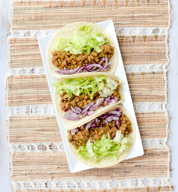 Break out your slow cooker folks. That's how easy I'm making this recipe for Easy Vegan Lentil Tacos. Throw all your ingredients in and, voila!   theeverykitchen.com