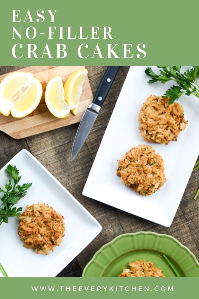 Easy No-Filler Crab Cakes — blink and these #healthy #glutenfree snacks will disappear! | theeverykitchen.com