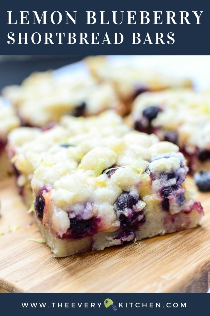 Lemon Blueberry Shortbread Bars | A word of warning: You will want to eat each and every melt-in-your-mouth-AND-in-your-hands all by yourself. | theeverykitchen.com