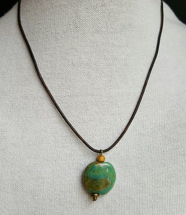 green earth - kazuri bead necklace