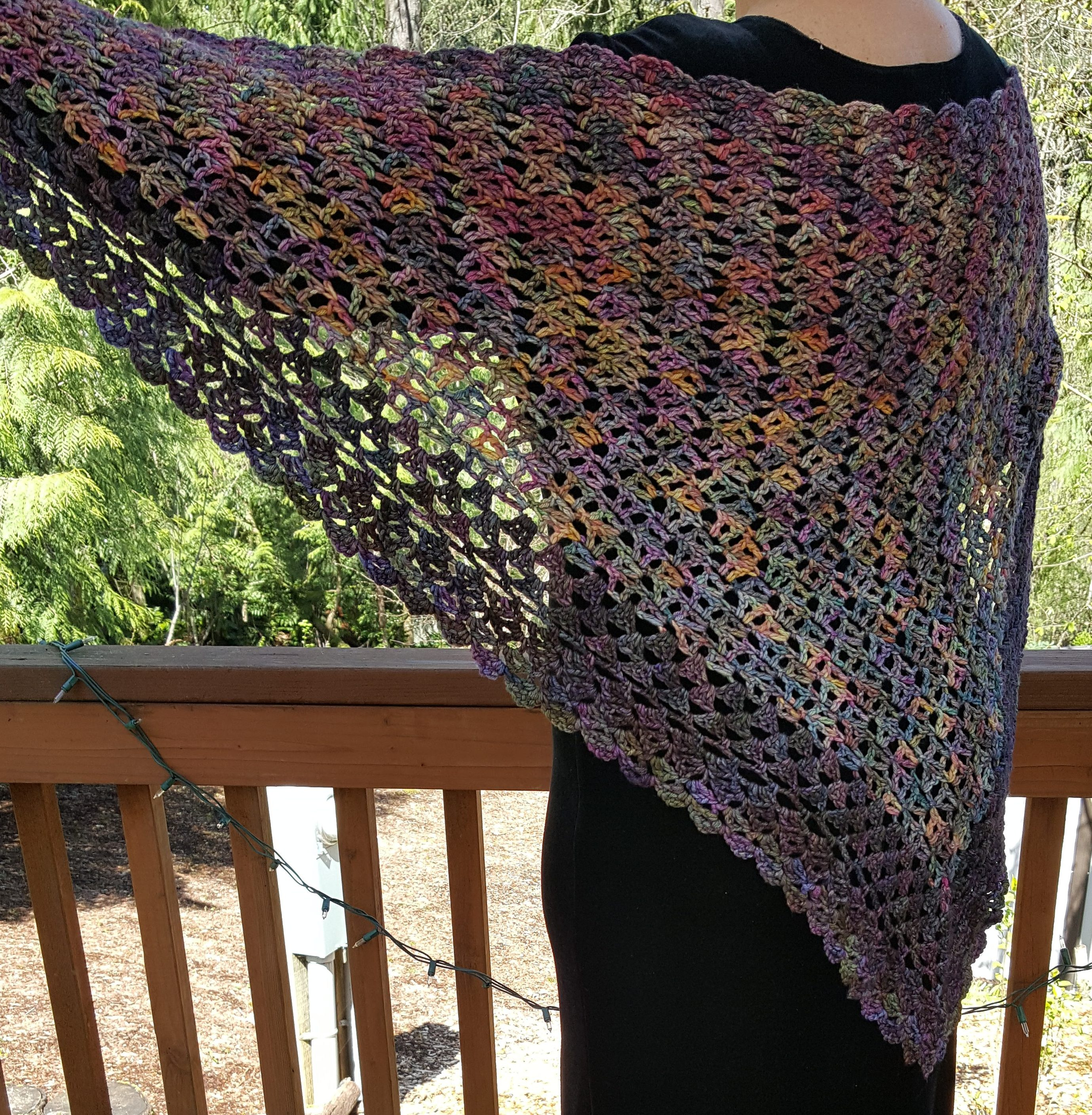 Crocheted Shawl Wrap