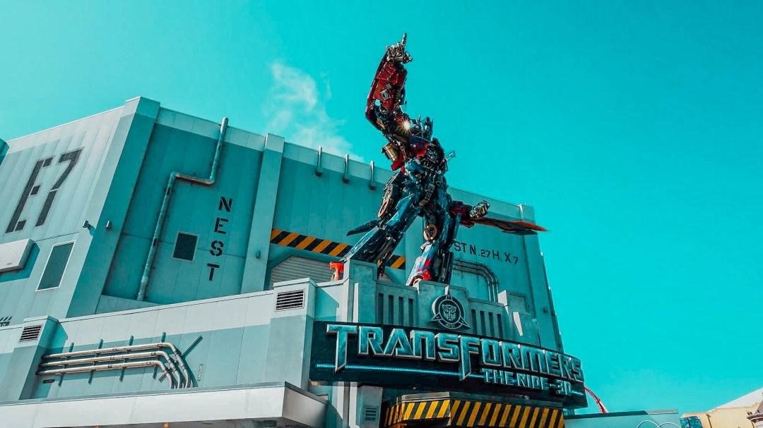 Transformers queue entrance.