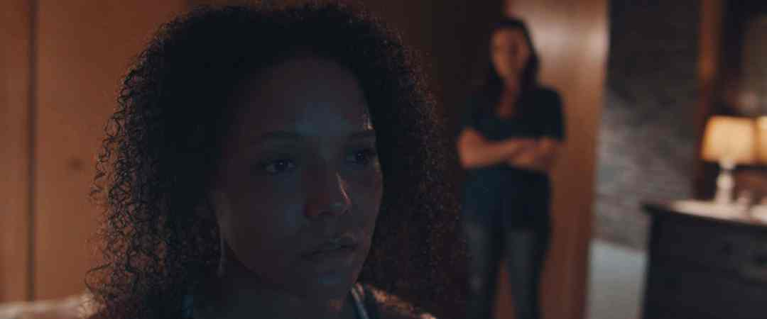 Dramatic scene from the film, The Evil Inside Her