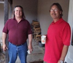 Dale Newman and Steve Pudding Jones catch up (Photo Copyright Evil Jam)