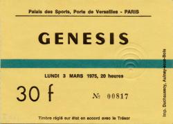 Palais Ticket 1975 (c/o Mino Profumo and The Genesis Archive)