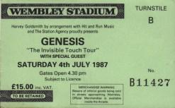 Genesis wembley 4th July 1987