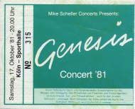 genesis ticket cologne oct 17th 1981