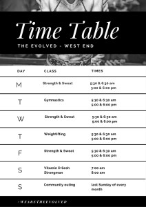time table west end gym