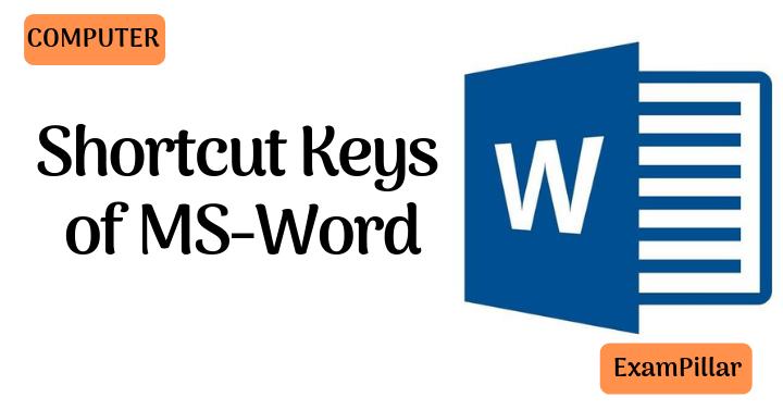 Shortcut Keys of MS-Word