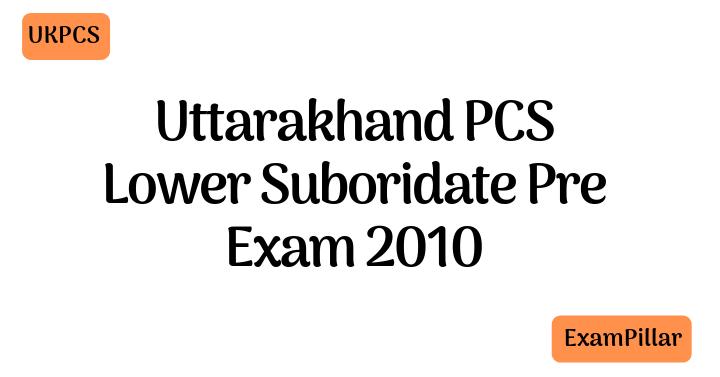 UKPCS Lower Suboridate Pre - 2010