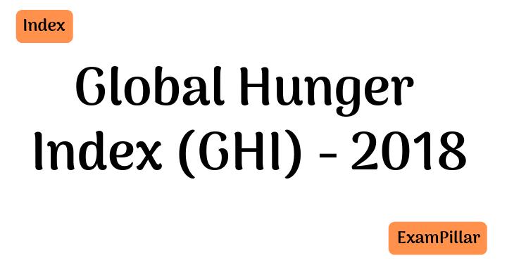 2018 Global Hunger Index - GHI