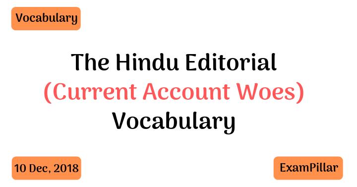 The Hindu Editorial Vocab 10 Dec, 2018