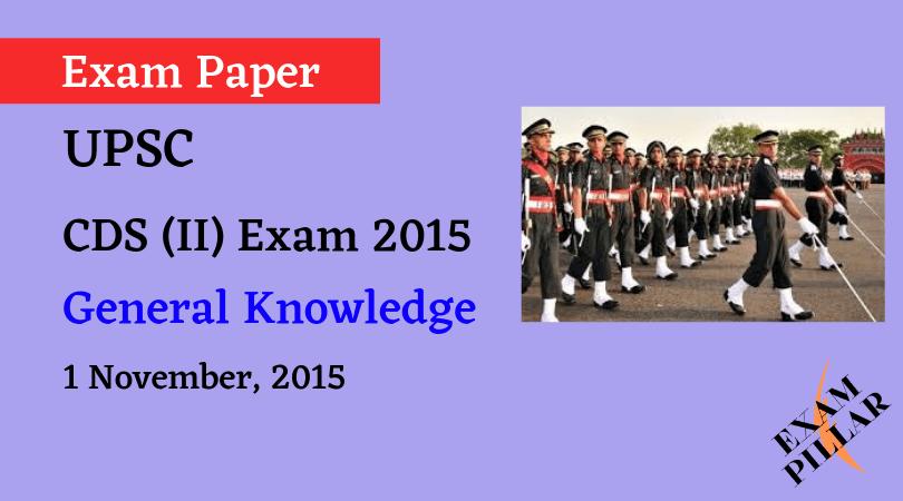 CDS I Exam 2014 General Knowledge ANSWER KEY
