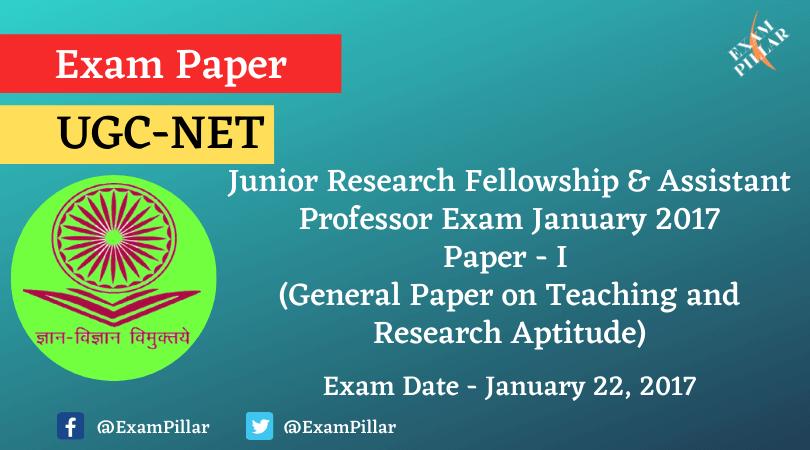 UGC NET January 2017 Paper 1 (Answer Key)
