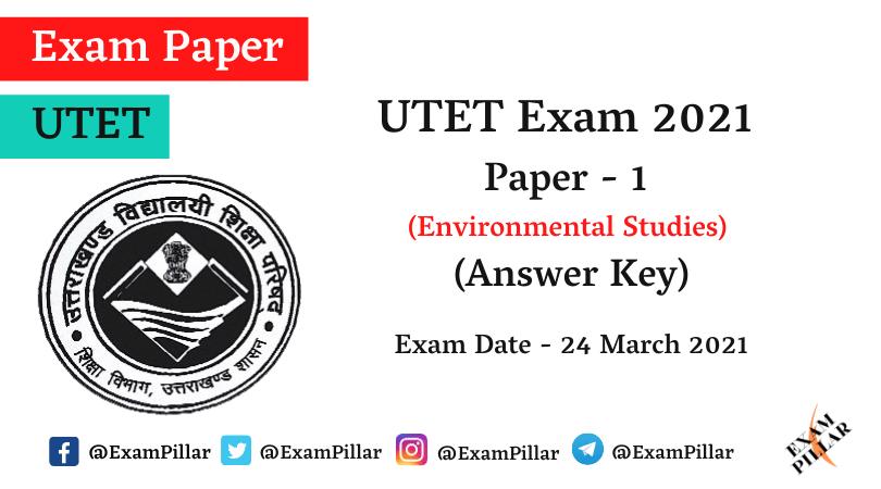 UTET 2021 Paper 1 Answer Key