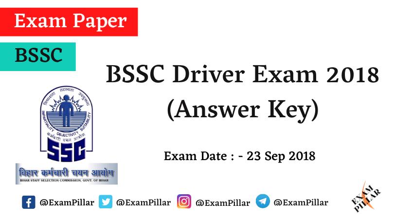 BSSC Driver Exam 2018