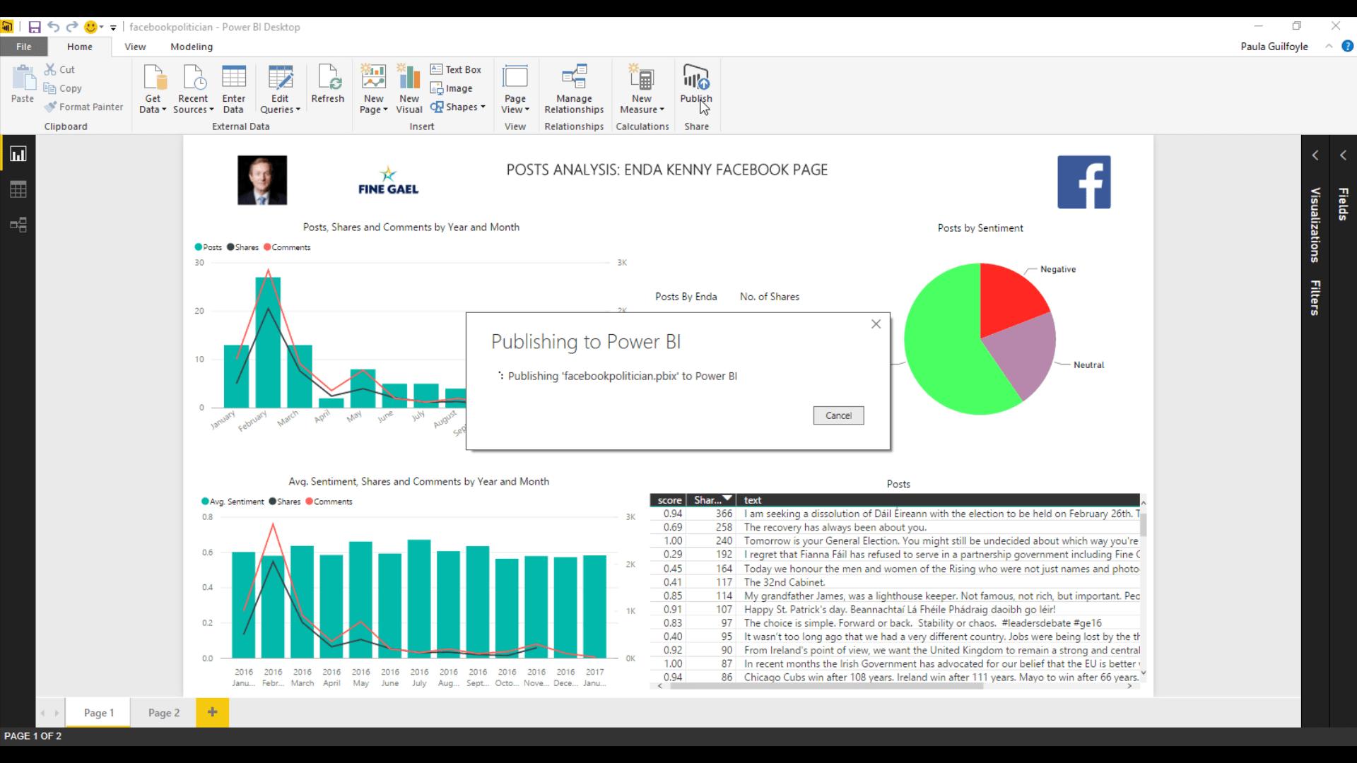 Publish Reports from Power BI Desktop to Power BI Services