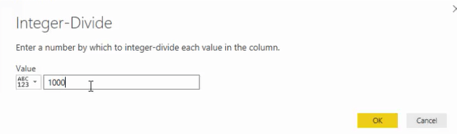 integer divide in power bi
