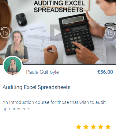 Audit Excel Spreadsheets