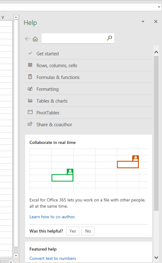 F1 help in Excel