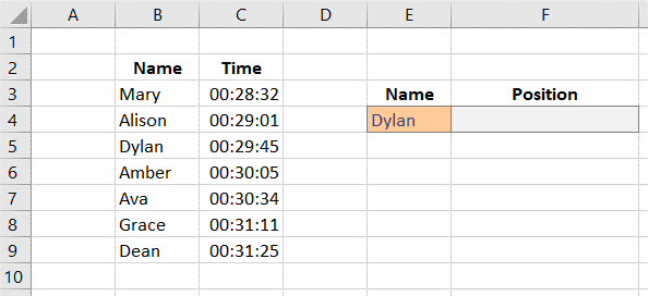 xmatch in excel