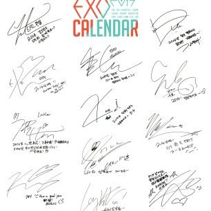 [HD SCANS] EXO 2014 Desk Calendar