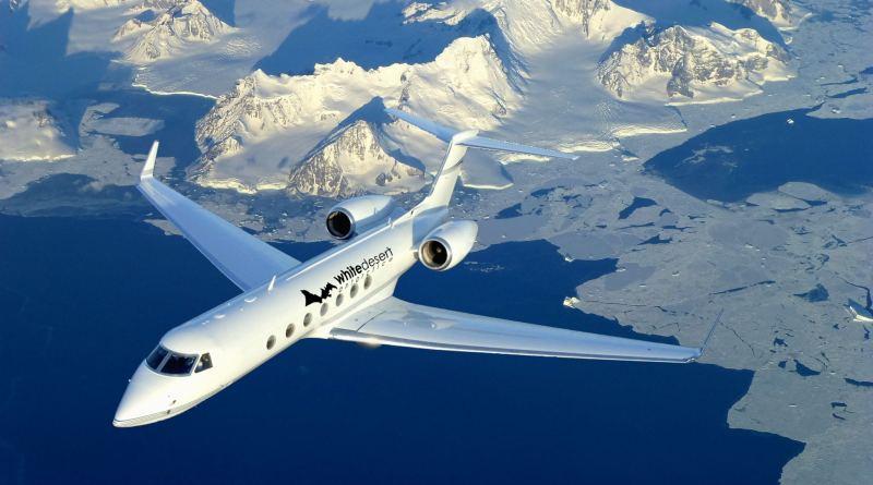 private jet South Pole Antarctica luxury expat escape photo