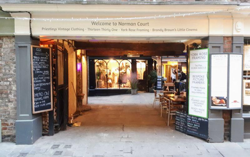 arcade in york shopping street