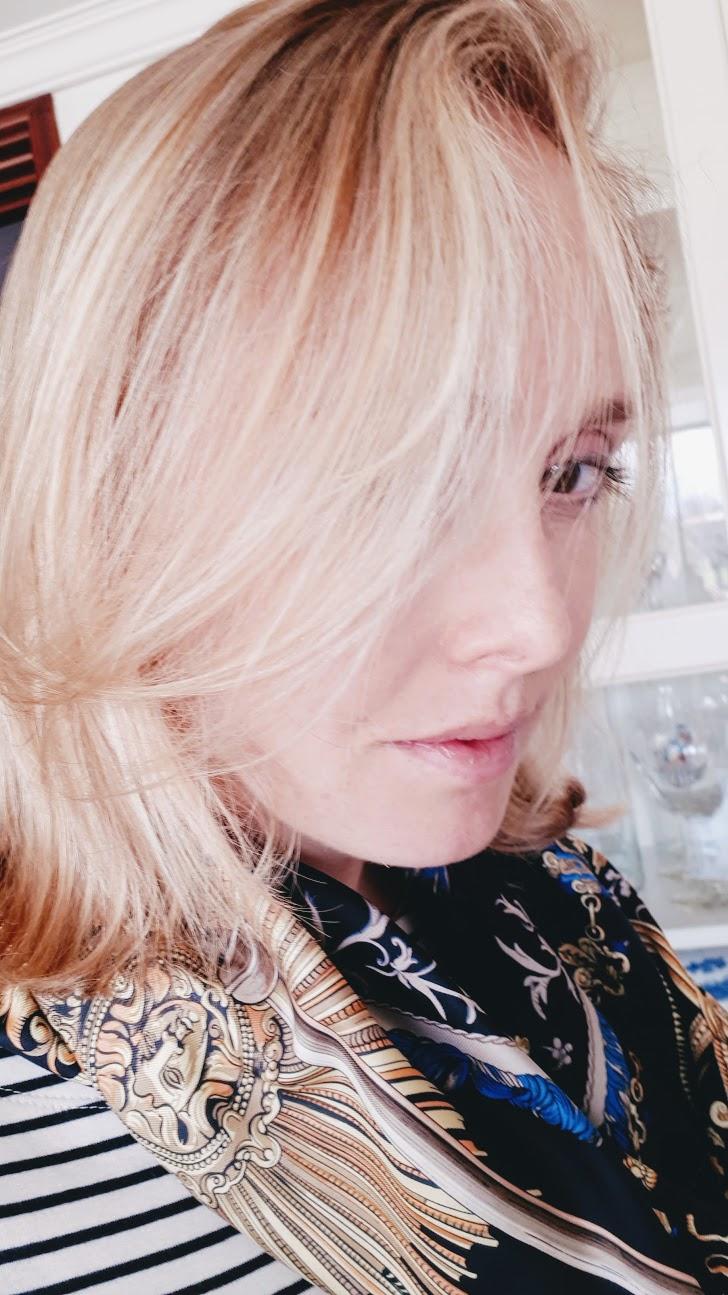 Nina Hobson The Expater results JK7 Golden Face Oil