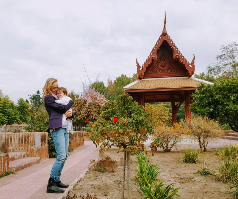trip to the park with baby Annabelle