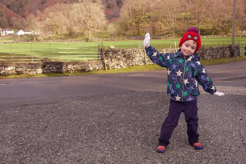 child at the Lake District