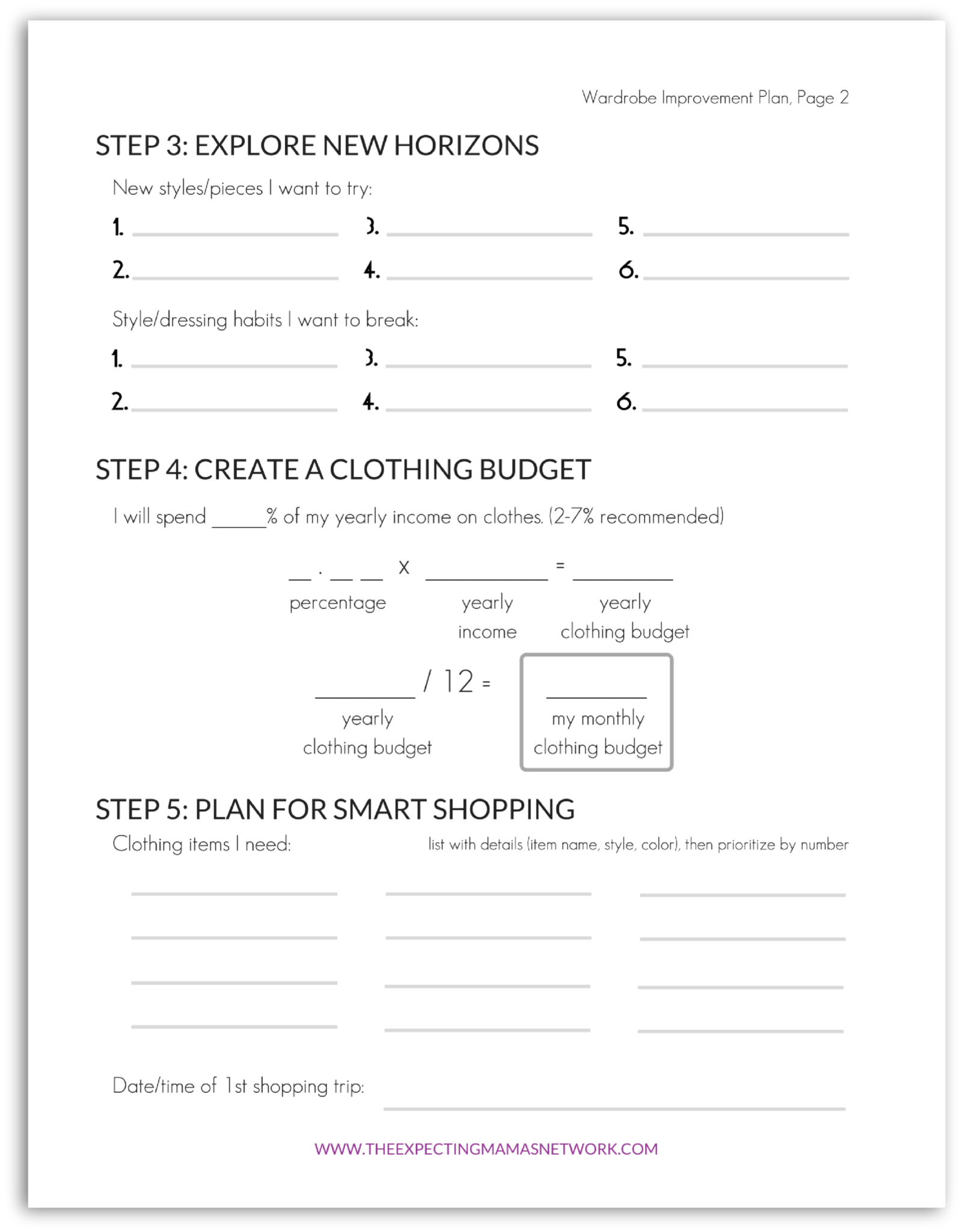 Printable How To Plan For A Better Mom Wardrobe1 Pregnancy Motherhood Amp Beyond