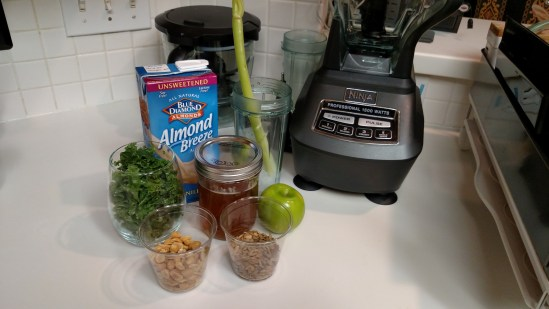 Kale, Sunflower Seed, Peanut smoothie