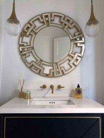 Belvenia Powder Room by The Expert Touch Interior Design