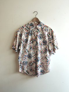 Rad Vintage Mens Graphic Nautical Shirt