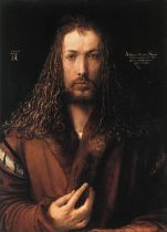 albrecht durer- self portrait- 1500 - selfie centered- the eye of faith