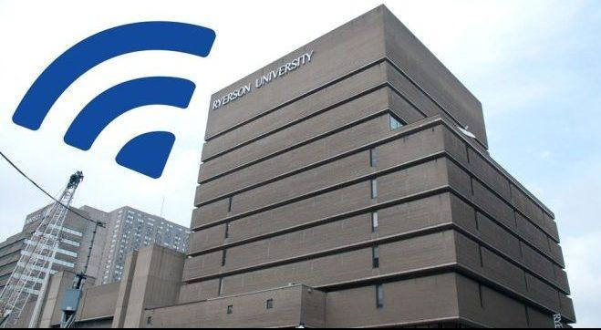 Ryerson next to a wifi symbol